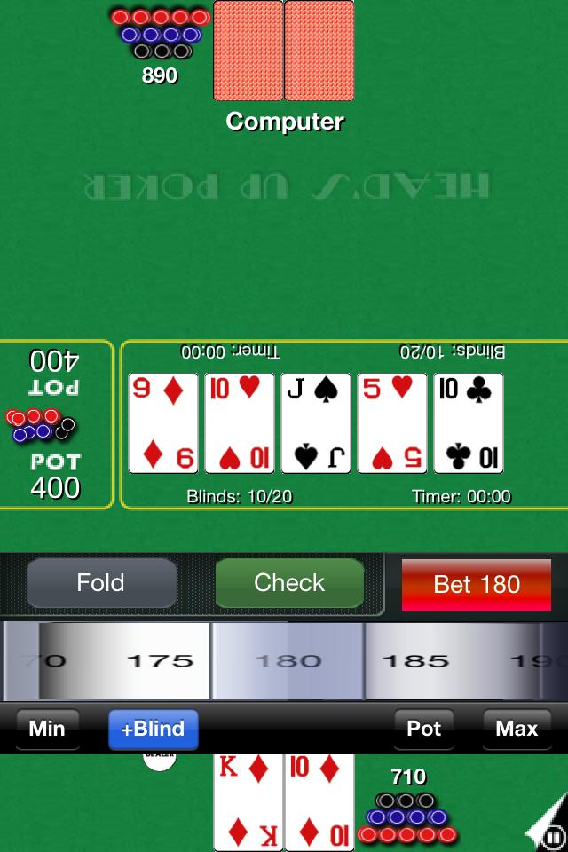 Screenshot H'Up Poker Free